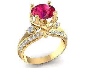 3D printable model diamond ring for women 1669