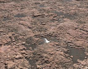 3D model Red arid terrain seamless PBR