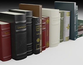 Antique Books PBR 3D model