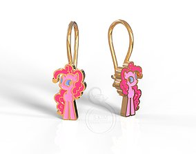 3D print model Pinkie Pie earrings