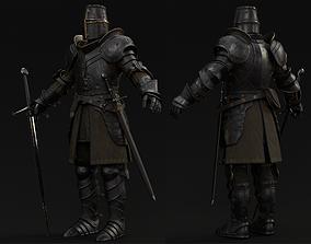 Knight Character PBR Game ready with Claymore and 3D model