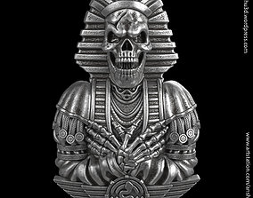 Egyptian skull vol2 Pendant and relief 3D printable model