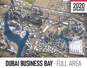 3D asset Dubai Business Bay - full area