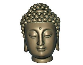 Buddha head 3D printable model decor