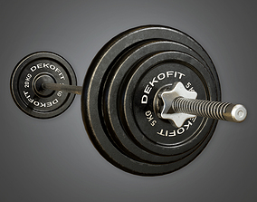 3D asset Weight Set 01a - Sports And Gym