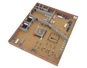full model floor plan boxing boxing 3D