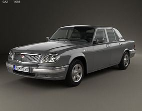 GAZ 31105 Volga 2005 3D model