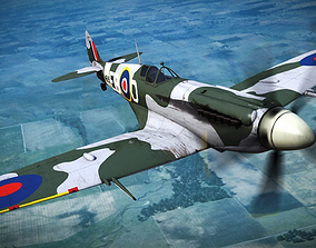 SUPERMARINE SPITFIRE MK XII 41st Squadron 3D