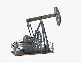 Oil Pump Jack 3D model game-ready