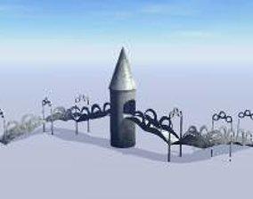 3D model fairy tale bridge