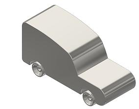3D printable model Titanium Toy Car