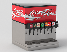8 Flavor Counter Electric Soda Fountain System 3D