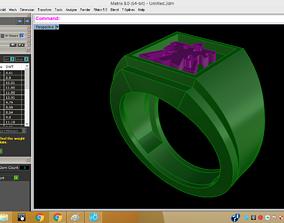 gold rings 3D bracelets - jewelry 3d