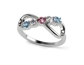 3D print model Stones Infinity Ring