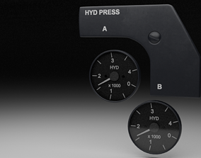 F16 Hydraulic Pressure Gauges 3D model