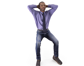 3D model Casual Blackman Sitting