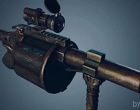 3D asset Grenade Launcher Weapon