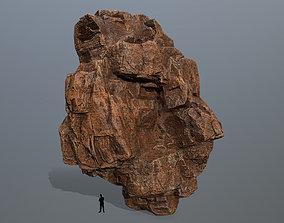desert rocks 3D asset game-ready mount