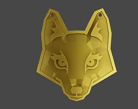Pendant totem animal FOX 3D printable model