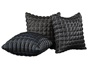 Pillow set 09 Black Segment 3D model