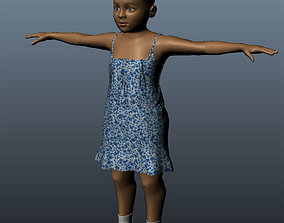 game-ready 3D black Baby