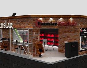 Exhibition fair shoes decorative stand 3D model