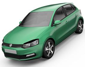Volkswagen Polo Hatchback 3D Model animated