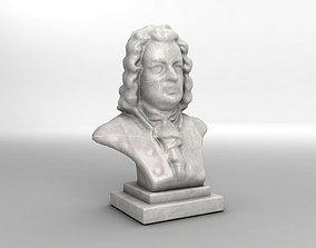 3D Sculpture Bust of Johann Sebastian Bach