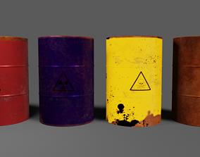 biological 3D asset realtime Metal Barrel