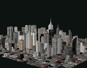 3D City Buildings LOW POLY