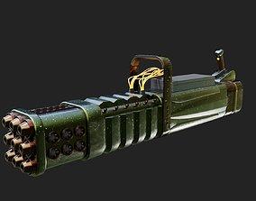 technology 3D model rigged Laser Gun