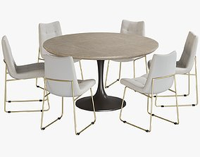 Dining Table Powell Chair Rouka 3D model