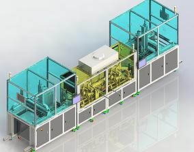 3D model Automatic mobile phone film production line
