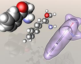 Cathinone molecule 3D
