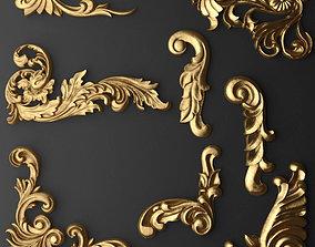 3D model Gold Decorations