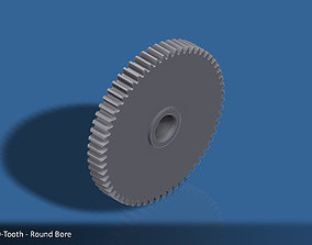 3D printable model 60-Tooth Spur Gear 03