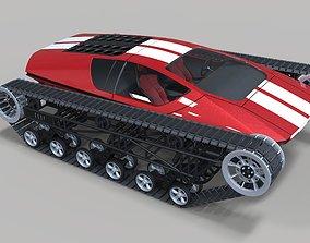 3D model Concept tracked sport car race