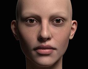 Human Woman Face 3D