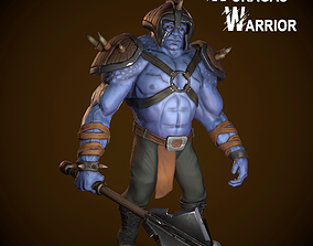 Wuragas Warrior 3D asset animated