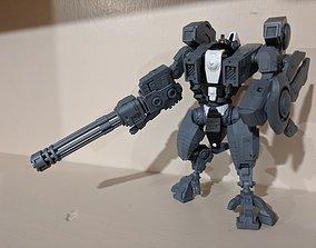 3D printable model Big Ass Burst Cannon for Wargaming Mech