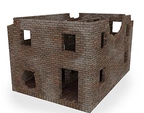 3D model Damaged building
