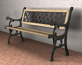 3D asset Garden Bench - Low Poly