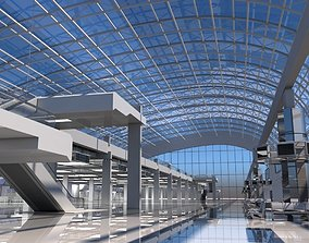 Airport Check in Building Interior 3D model