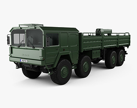 MAN KAT I Military Flatbed Truck 4-axle 1976 3D