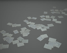 3D model Paper File Low Poly Game Ready