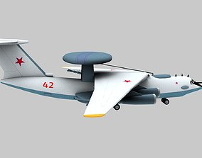 Lowpoly A-50 Mainstay Aircraft 3D Model realtime