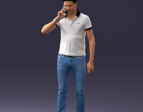 man with mobile 0522 3dprint ready figurine