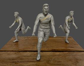 Leo Messi 3d sculpture football