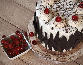 3D model Cherry cake