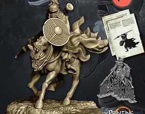 Dark Spearman Mounted - Presupported 3D print model
